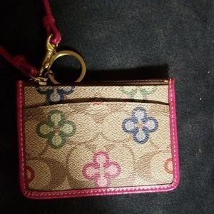 Coach Keychain/Card holder/ID holder